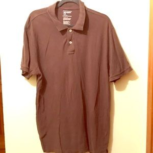 Brown Old Navy 2-Button Collared Tee